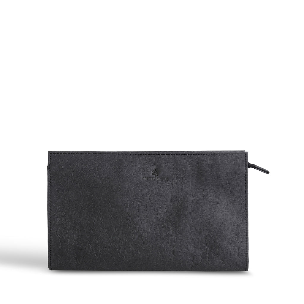 Talia Vegan Crossbody Clutch | Black