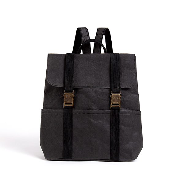 Eco friendly Vegan leather backpack black