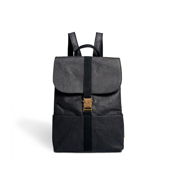 Vegan leather backpack black color