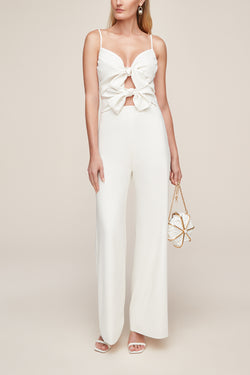Bridal white jumpsuit