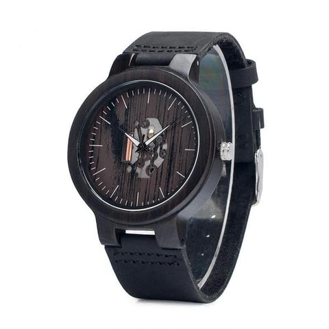 montre all black, type squelette