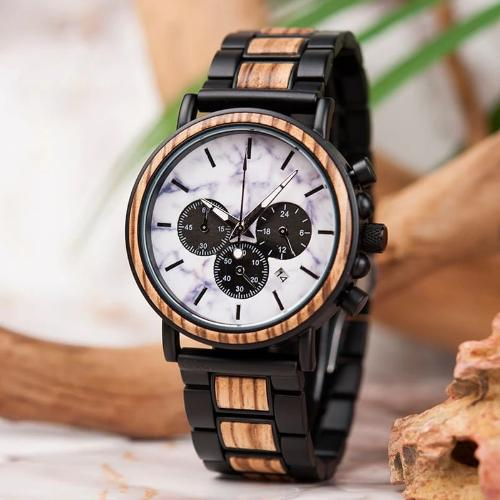 Montre en bois - Marbre Empire