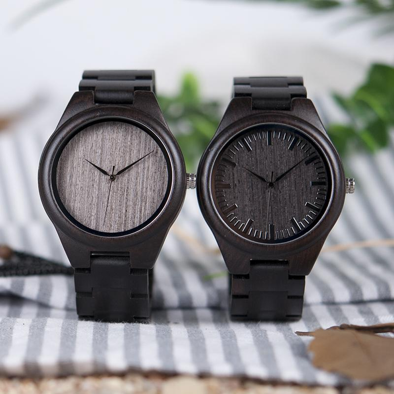 Montre en bois - All black