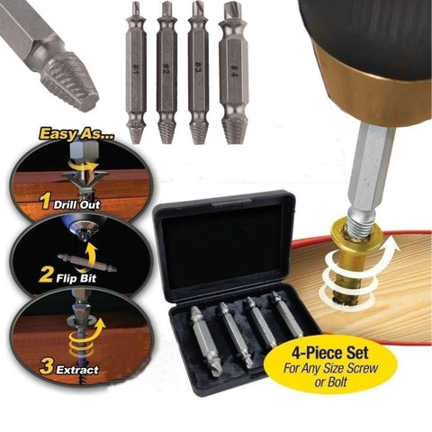 Double Side Damaged Screw Extractor Drill Bits