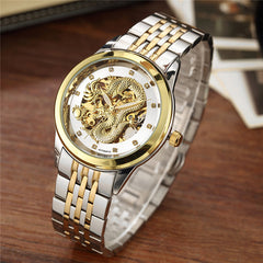 'Zade Dragon' Luxury Dragon Skeleton Wrist Watch