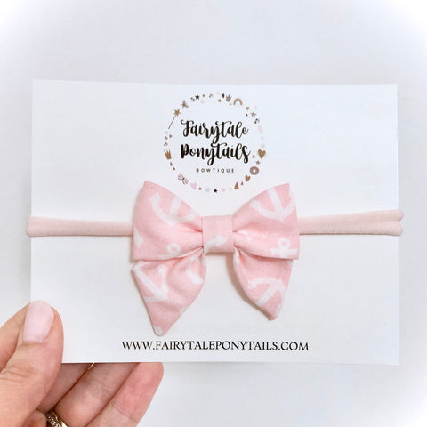 Anchors - Mini Sailor Bow Headband