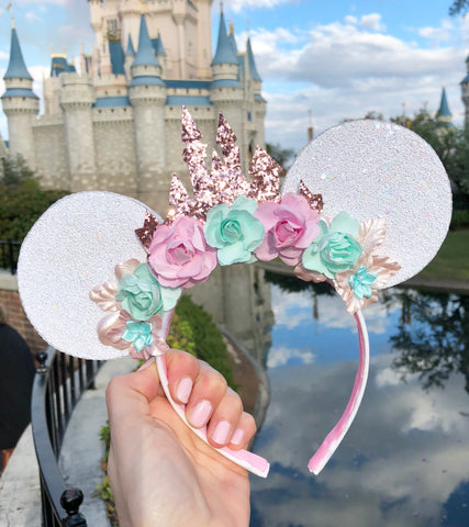 Rose Gold Castle Mouse Ears
