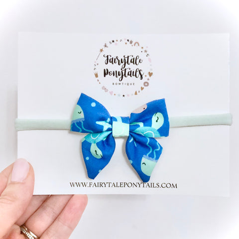 Under the Sea, Navy - Mini Sailor Bow Headband