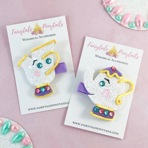Mrs. Potts & Chip Hair Clips
