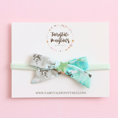 Blue Blooms - Bow Headband