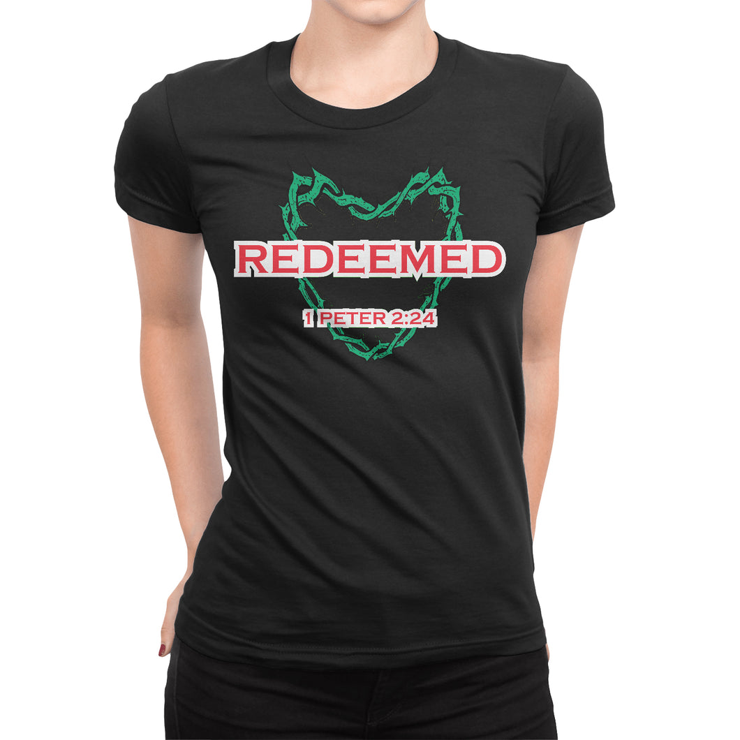 1 Peter 2:24 Christian Women's T-Shirt - Redeemed