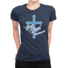 Load image into Gallery viewer, Galatians 5:1 Christian Women's T-Shirt - Set Free