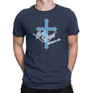 Galatians 5:1 Christian T-Shirt - Set Free