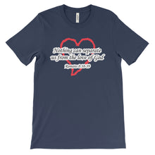 Load image into Gallery viewer, Romans 8:38-39 Christian Women's T-Shirt - Love of God