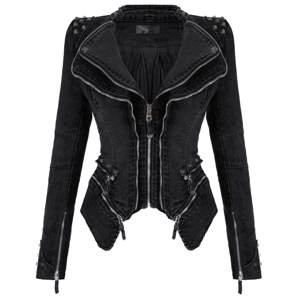 Denim Jeans Slim Fit Studded Jacket