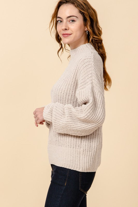 Keep It Cozy Mock Neck Sweater