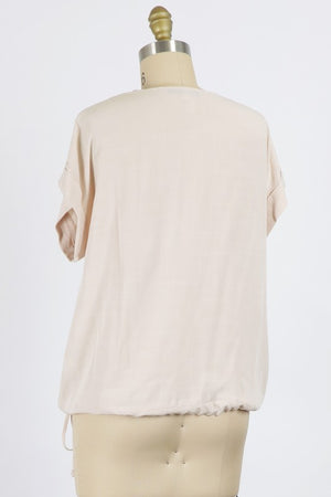 Natural Woven Top
