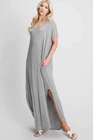 Take It Easy Maxi Dress - Grey