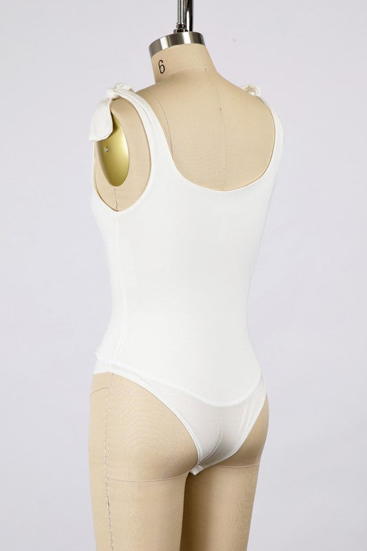 Happy Hour Bodysuit -White