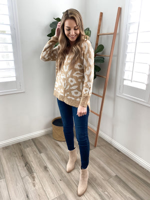 Can't Be Tamed Leopard Sweater | FINAL SALE