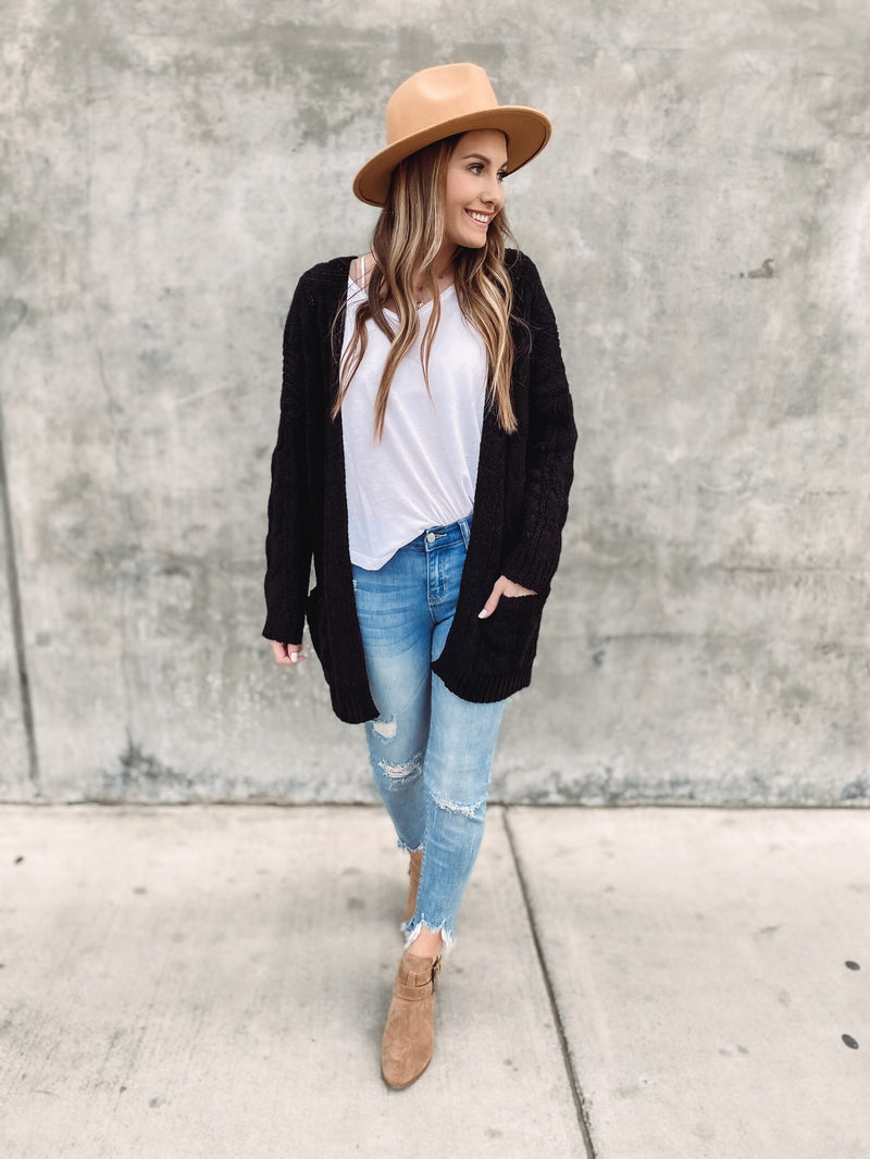 Hometown Girl Cable Knit Cardigan
