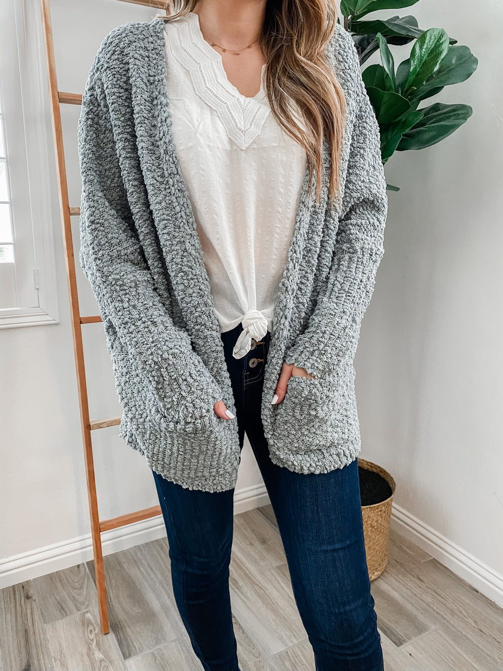 Cool Weather Popcorn Cardigan