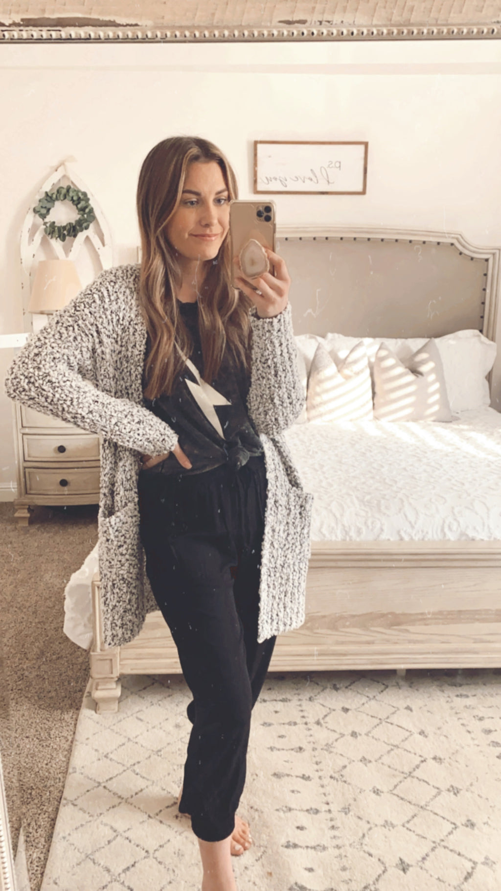Winter Days Popcorn Cardigan