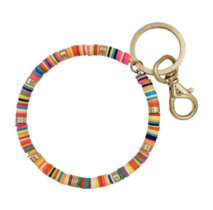 Beaded Key Ring -Multi Color