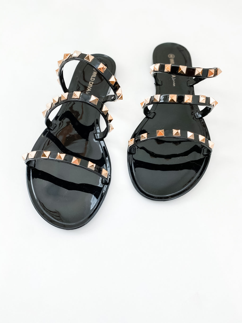 Stevie Studded Sandals - Black | FINAL SALE