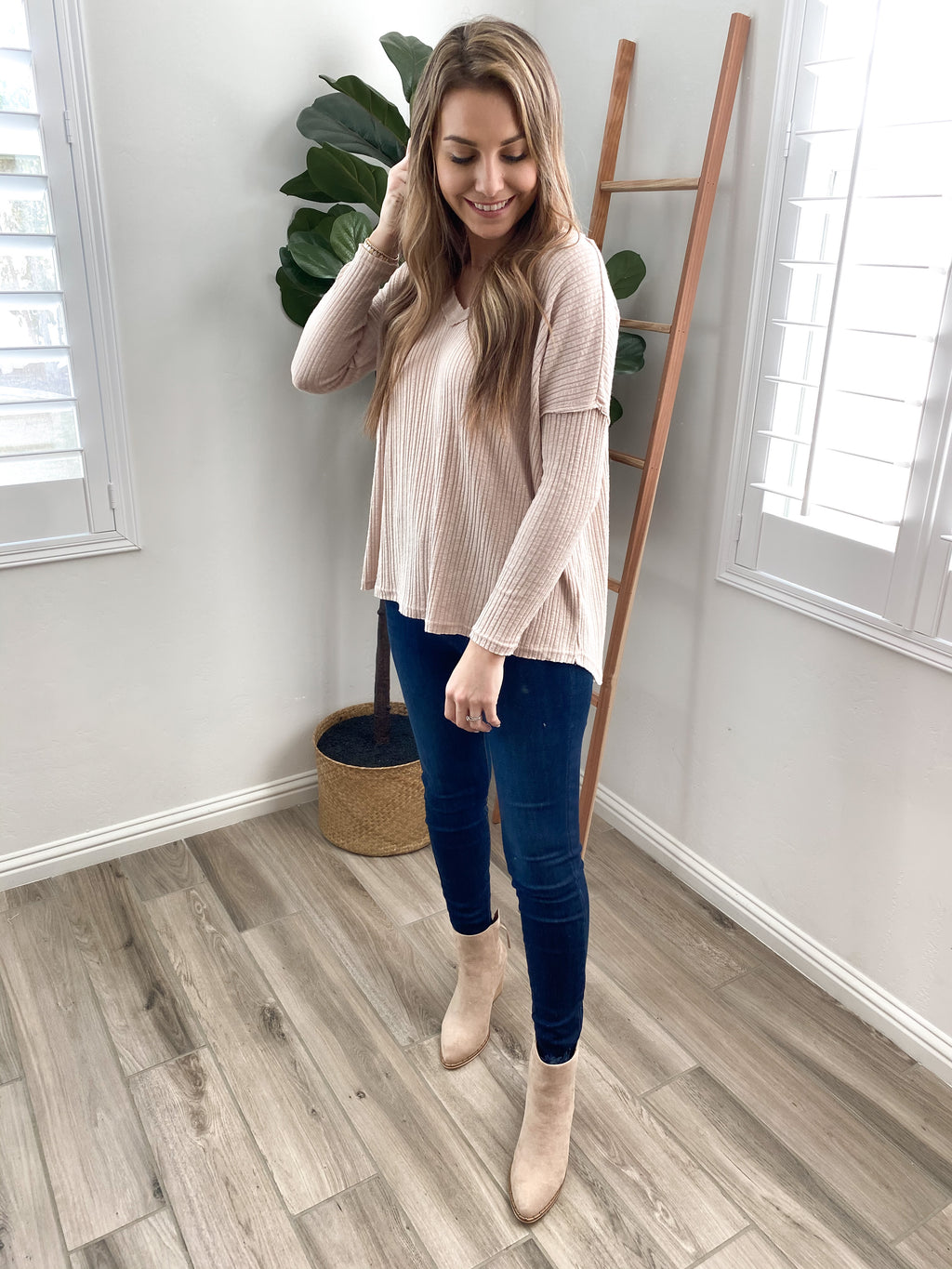 Crossroads Thermal Knit Top