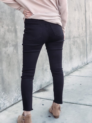 Black Distressed Skinny
