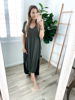 Take It Easy Maxi Dress - Olive