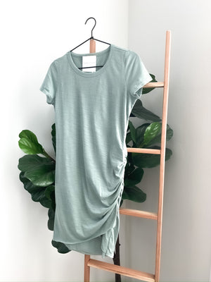 Summer Breeze T-Shirt Dress - Steel Blue