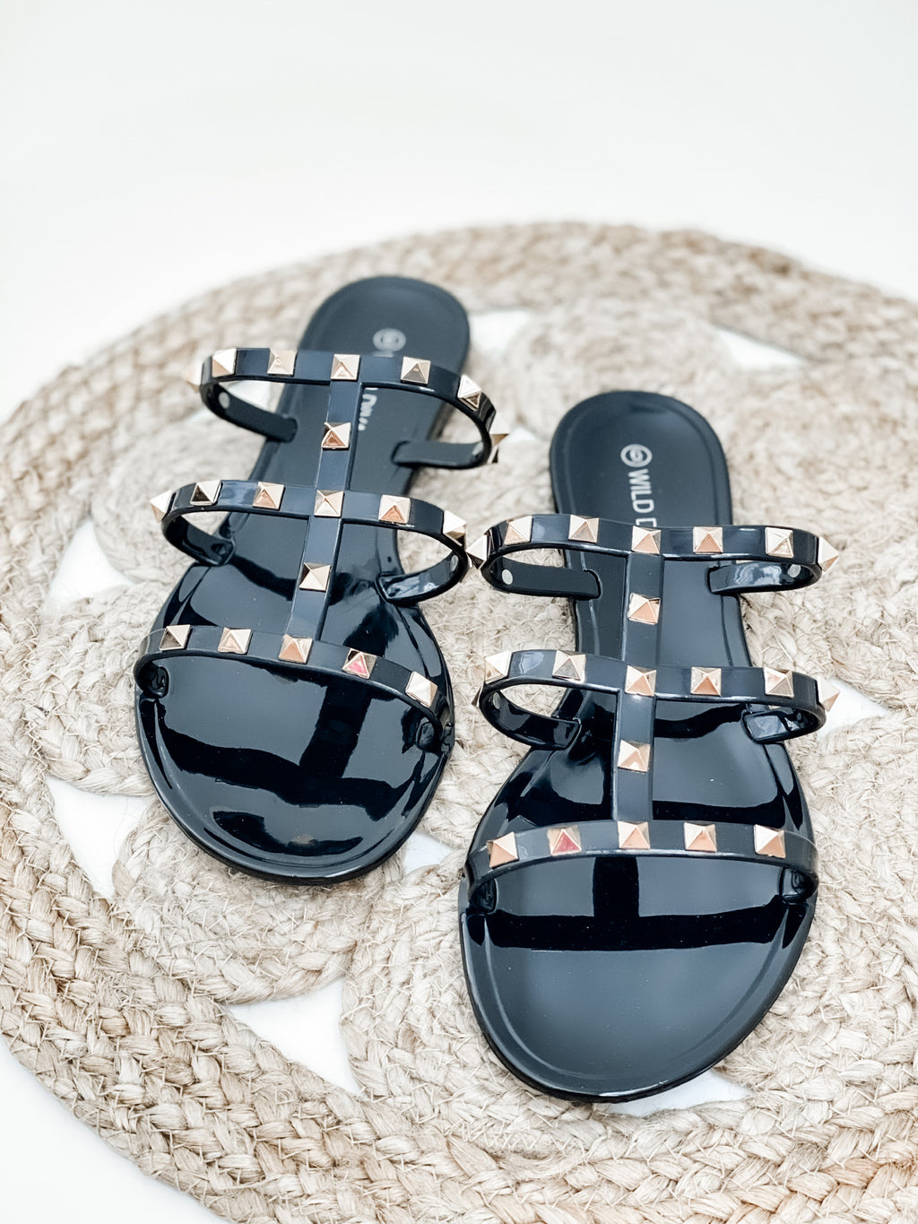 Ellie Studded Sandals- Black | FINAL SALE