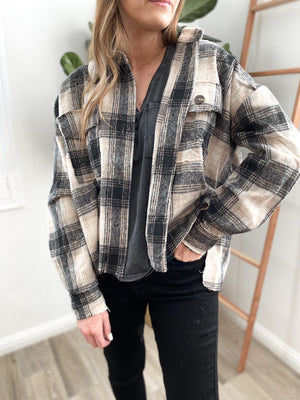 Forever Plaid Cropped Jacket