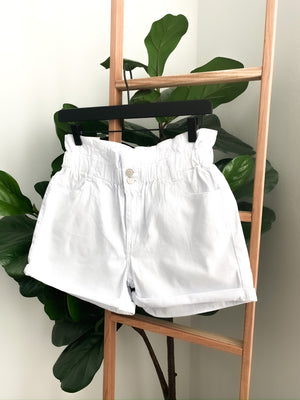 Paloma White Paperbag Shorts | FINAL SALE