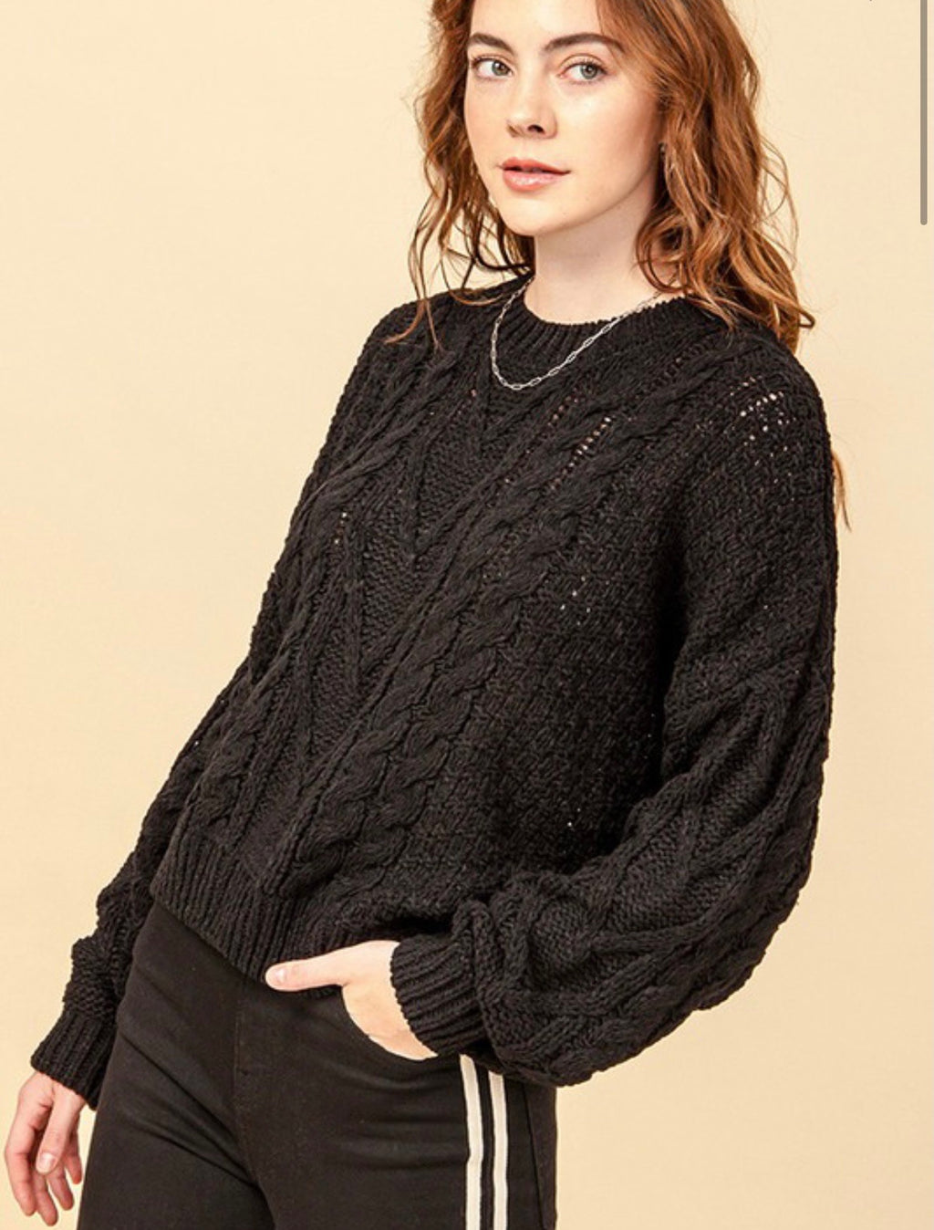 Cassie Cable Knit Sweater | FINAL SALE