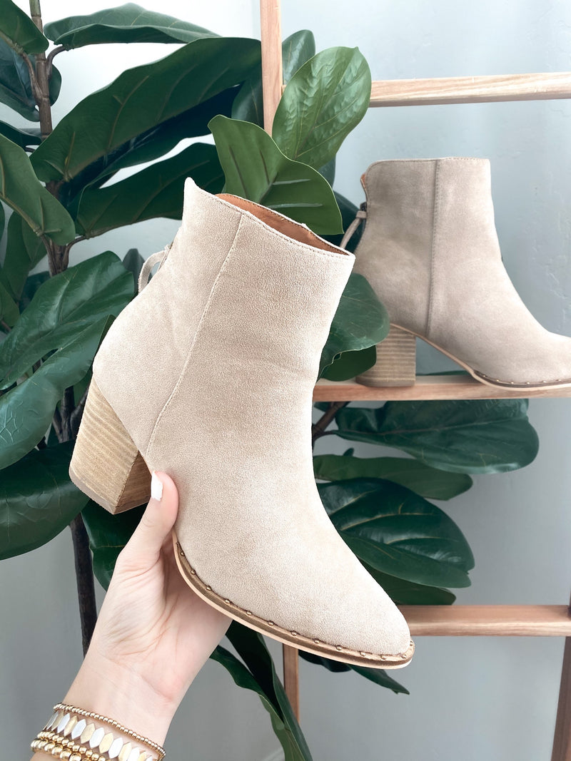 Tennessee Faux Suede Heeled Bootie