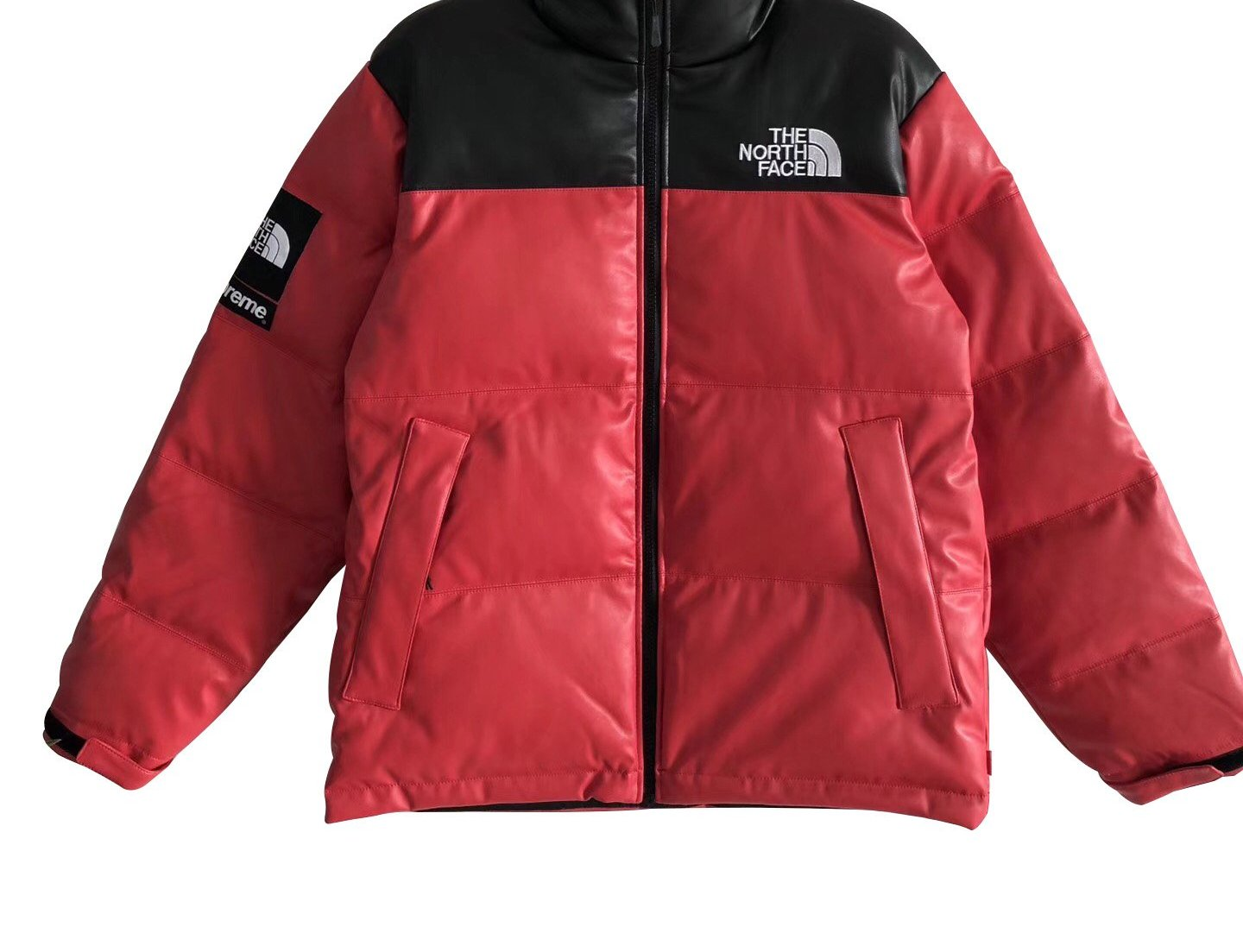 Supreme x The North Face Leather Nuptse Jacket – 17FW – King Sneaker ... 324d0ce83