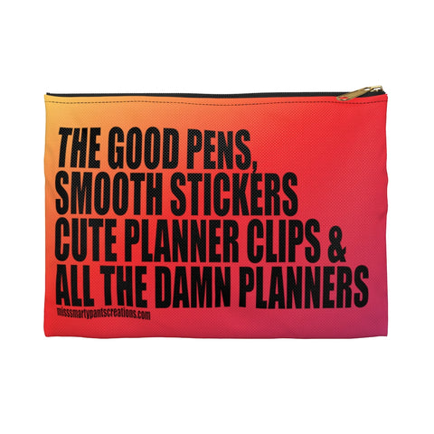 Sunset Vibez ALL the Damn Planners Planner Zipper storage pouch