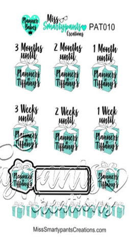 Planners at Tiffany's Countdown Stickers