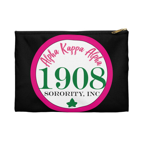 Alpha Kappa Alpha Sorority Inc Circle Makeup Bag