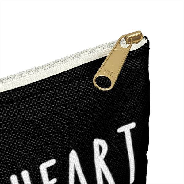 BLACK I GOT A GOOD HEART But This Mouth Tho Planner Pens Storage pouch