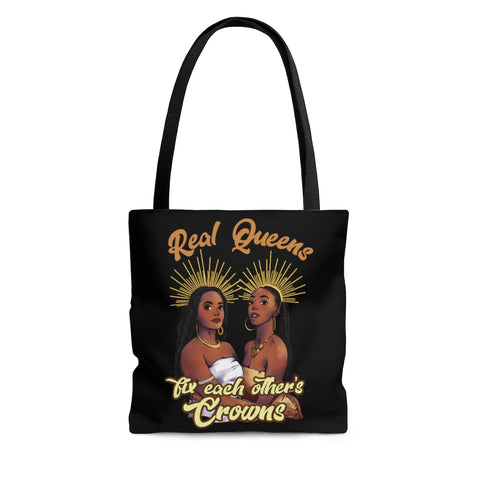 Real Queens Fix Each others Crowns Canvas Tote Bag