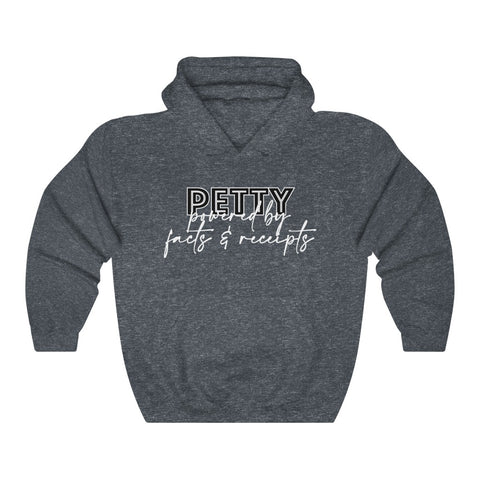 Petty Powered by Facts & Receipts Unisex Heavy Blend™ Hooded Sweatshirt
