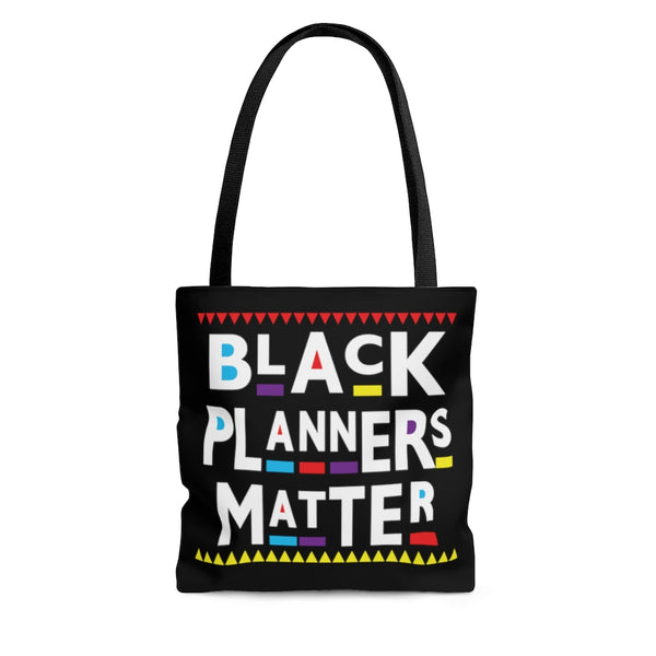 Black Planners Matter Planner Canvas Bag