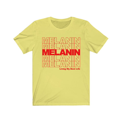 MELANIN- Thank You Bag Design Short Sleeve Tee