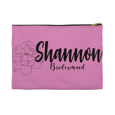 Bridal Party Bridesmaid  Makeup Zippered Pouch