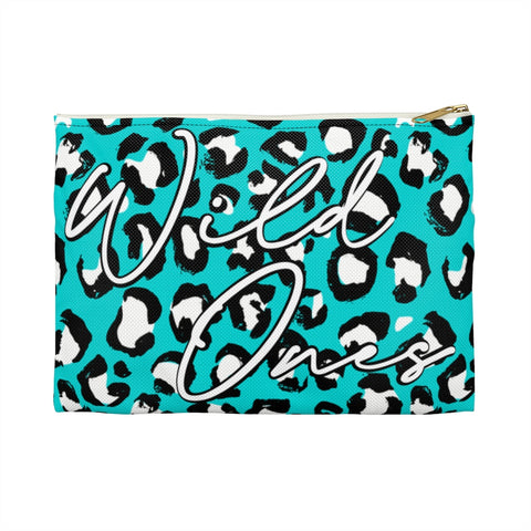 Teal Leopard Wild Ones 2020 Planaheim Into the Wild Canvas Pouch