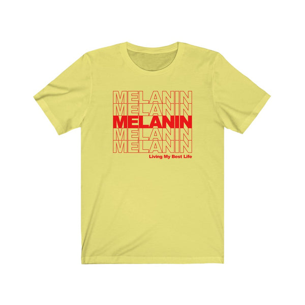 Melanin Thank YOU bag Black Statement Sassy Short Sleeve Tee